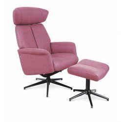 Fotel rozkładany VIVALDI recliner ciemny róż