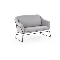 Fotel wypoczynkowy podwójny SOFT 2 XL jasny popiel