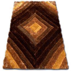 Dywan SHAGGY SOFT - 3D TY124 brąz